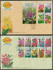 Highland Flowers Flora of MALAYSIA 2000 14v stamps + 1 MS FDC pair minor toned