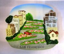 LOMBARD ST SAN FRANCISCO USA MAGNETIC COOLER MAGNETS RESIN FRIDGE SOUVENIR GIFT
