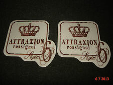 2 AUTHENTIC ROSSIGNOL ATTRAXION PROMOTIONAL STICKERS #3 DECALS AUFKLEBER