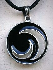 Magical Triple Goddess Black Moon Dark Matter Pagan Wicca Magic Pewter pendant