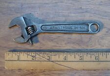 """Old Used Tool,Vintage Armstrong 34-506,6"""" Adjustable Wrench,13/16"""" Cap,Excellent"""