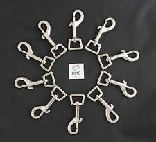 """10 x Heavy Duty 20mm 3/4"""" Inch Square Snap Hook Trigger Clip Dog Lead 74mm long"""