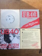 "7"" Single Vinyl 45 Collection 4 picture Sleeves UB40 Reggae Singles"