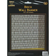 """Brick Wall Halloween Party Wall Banner Cover Decoration - 42"""" x 50"""""""