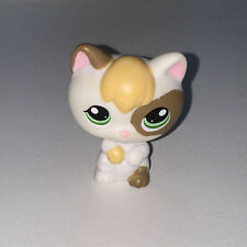 Littlest PetShop CHATON BLANX JAUNE ET MARRON CHAT 1461 E19 KITTY CAT Pet Shop