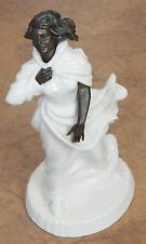 "Vintage Minton ""Sea Breeze"" Sculpture Fine Bone China & Bronze Figurine"
