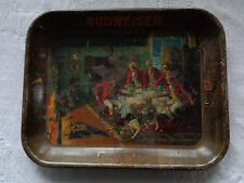 Budweiser Fox In The Fire 1933 Metal Tray