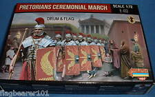 STRELETS SET M 109. PRETORIAN CEREMONIAL MARCH. 1/72 SCALE. 40 UNPAINTED FIGS.
