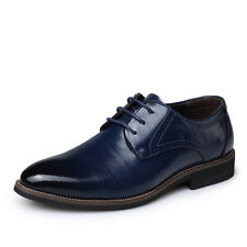 New Fashion Mens oxfords leather Shoes European style Casual Dress Blue US 11