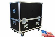 "Kent Custom Dual Lift-off Cab Case Behringer Eurolive B215XL PA Speaker 1/4"" Ply"