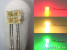 30x LED SMD 0605 rgy rojo verde amarillo + microlitze Red Green Yellow Rood Groen Geel