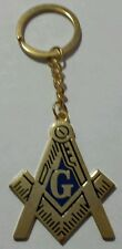 Freemason Masonic Square and Compass Key Chain