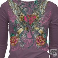 Sublimation (Winged Heart) T Shirt You Choose Style, Size, Color Up to 4XL 20064
