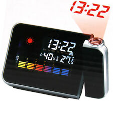 Multifunction Digital LCD LED Talking Projection Alarm Clock Time & Temp Display