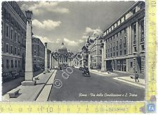 Cartolina - Postcard  - Roma - Via della Conciliazione - Auto d'epoca - anni'50