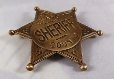 Gold Grand County Sheriff Badge - Ranger/Police/Cowboy Wild West Western US Law