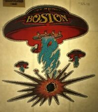 Vintage Iron On Heat T-shirt Transfer 70's Boston the Band NOS Glitter Rock