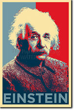 Albert Einstein art photo print (OBAMA HOPE Parodie) Poster Cadeau physique