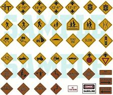 Custom Decal - HO Scale Highway Traffic Signs, Set #2