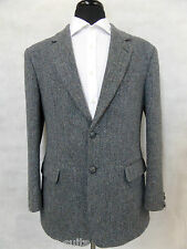 Men's bleu clair harris tweed veste blazer 40R EZ1