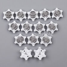 14pcs White Gray Golf Spikes Pins 1/4 Turn For Footjoy Fast Twist Sports Shoes