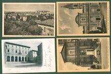 MARCHE. OSTRA, (Ancona). Quattro cartoline d'epoca di cui una viaggiata nel 1902