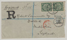 CHINA 1901 Registered Cover Dragon to Scotland via British P.O. Shanghai