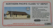 American Model Builders #470 Northern Pacific Class C Depot (Laser-Cut Wood Kit)