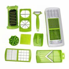 12pc Nicer Slicer Plus Vegetable Fruit Peeler Dicer Cutter Chopper Container Kit
