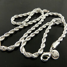 A467 GENUINE REAL 925 STERLING SILVER SF SOLID LADIES ANTIQUE NECKLACE CHAIN
