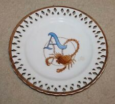 VINTAGE ALMENDARES SCORPION  CUBAN BASEBALL PLATE MASCOT CERAMIC PERFORATED 9 ""