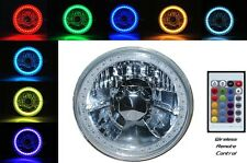 5-3/4 RGB Multi-Color SMD LED Halo Angel Eye H4 Light Bulb Motorcycle Headlight