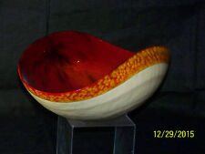Murano Art Glass Venetian CenterPiece Large Folded Rim Bowl