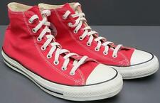 Men Converse All Star Chuck Taylor Red Textile High Top Lace Up Sneaker Sho