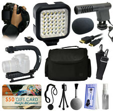 Microphone Light LED Accessories Bundle for Nikon D5500 D5300 D5200 D3300 D3200