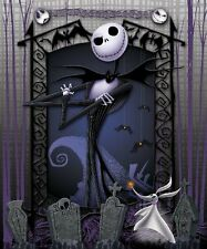 Nightmare Before Christmas throw blanket Super Soft plush Jack Graveyard Disney