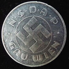 Nazi Germany NSDAP 1935 Aluminum Presse Schilling from BERCHTESGADEN collection