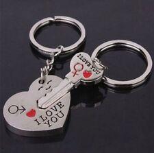 """Idée cadeau , déclaration d'amour , 2 porte clés forme coeur et clé """"I love You"""""""