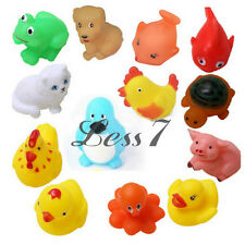 13pcs Baby Kids Rubber Bath Toys Mixed Different Animal Washing Educational Set