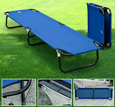 "Outsunny 75"" Portable Military Folding Cot Camping Sleeping Bed Hiking Travel BU"