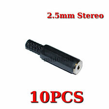 10pcs 2.5mm Stereo Female Plug Jack Adapter solder Plastic Connector AC002F