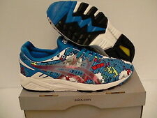 Asics gel kayano trainer shoes mid blue print size 10 us men new