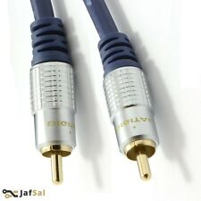 5m Pure HQ OFC Shielded Subwoofer Cable Gold 5M Metre UK