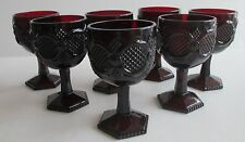 """Cape Cod Ruby Red Glass Avon Water Goblet 6 1/4 """" tall Excellent Shape Lot of 7"""