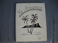 """1957 Mid-Pacific High School Yearbook """"Ke Anuenue"""" Honolulu Oahu Hawaii"""