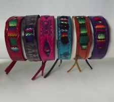 Lot of 4 Peruvian Leather Bracelet with Manta. Handmade