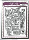 *NEW* Creative Expressions (Sam Poole) A6 Background Stamp TRAVEL TICKETS