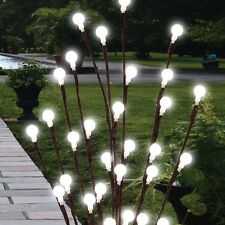 2 X 60cm Solar Powered Twig Tree LED Lights Garden Decor Lighting