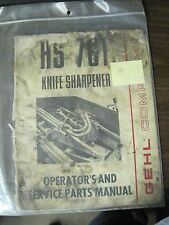 Gehl Operator's and Service Parts Manual for HS 761 Knife Sharpener
