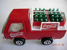Coca Cola Toy Truck Delivery Buddy Pressed Steel/Plastic Bottles Case Van